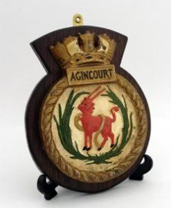 HMS Agincourt Ships Badge.