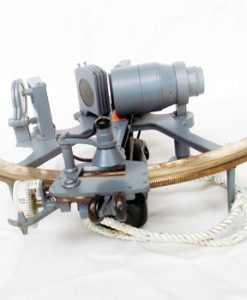 A Royal Navy Sextant By Henry Hughes & Son Unpolished Brass Scale