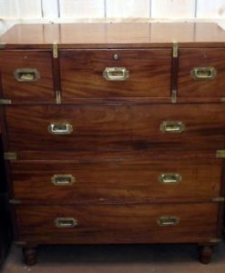 Superb Victorian Secretaire Military Chest