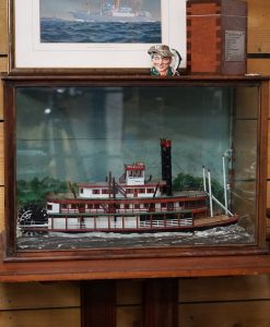 A Waterline Cased Diorama - Paddle Steamer St Louis Belle