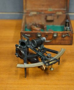 Early 20th Century Silver Scale Ship's Sextant