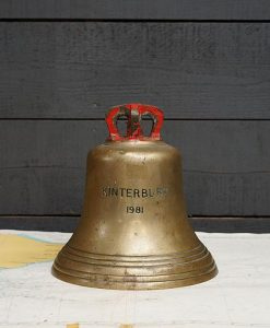 Original Royal Navy Ships Bell - RMAS Kinterbury 1981