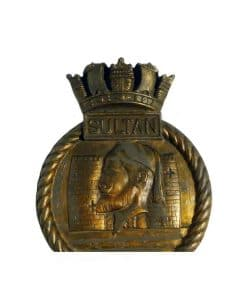 Royal Navy Shore Base Boat Badge - HMS Sultan 1956