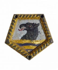 Royal Navy Painted Ships Badge - HMS Frobisher 1920