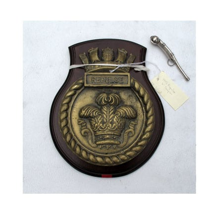 Royal Navy Unofficial Boat Badge - HMS Repulse 1916