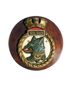 Royal Navy WW2 Boat Badge - HMS Wilton 1941