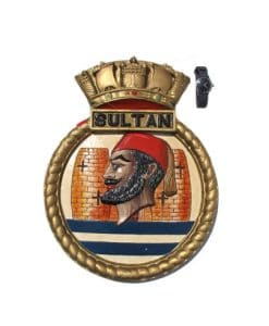 Royal Navy Screen Badge - HMS Sultan 1956 Shore Base