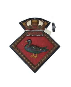 Royal Navy WW2 Screen Badge - HMS Widgeon 1938