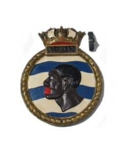 Original Royal Navy HMS Nubian Screen Badge - 1960