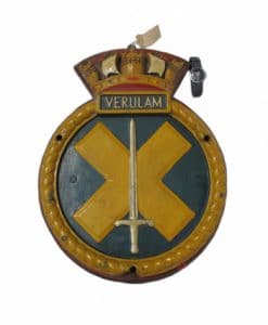 Royal Navy WW2 Screen Badge - HMS Verulam 1943