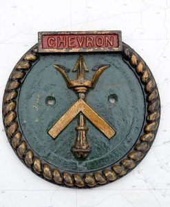 Original HMS Chevron Royal Navy Boat Badge - 1945