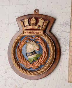 Original HMS Barrosa Boat Badge - 1943 Fleet Destroyer