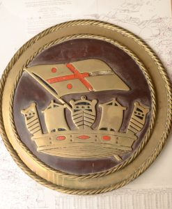 Original HMS Hibernia Boat Badge - 1905 Battleship