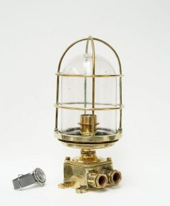 RN Original Brass Engine Room Light - HMS Vengeance