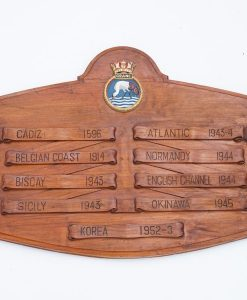 Royal Navy WWII HMS Crane Honours Board - 1942