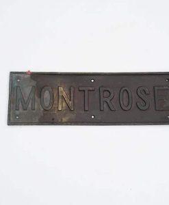 Royal Navy HMS Montrose Ships Tread Plate - 1919