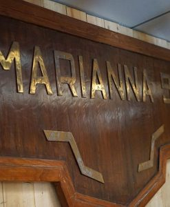 SS Marianna 9 Name Board - Owned John S Latsis