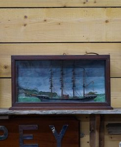 Small Cased Model - Four Masted Barque Circa 1880's