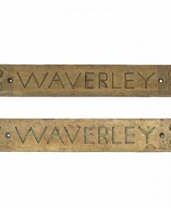 PS Waverley Port & Starboard Brass Tread Plates