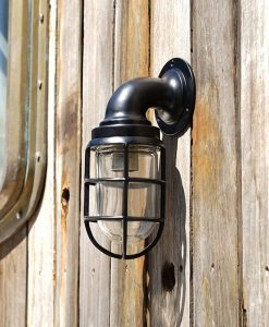 Black Swan Neck 90 Degree Passage Wall Light - Large