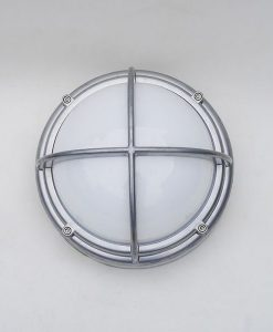 Silver Coated Aluminium Bulkhead Light - Never Issued