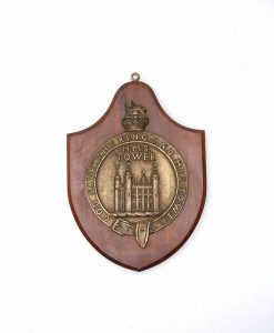 Original Royal Navy HMS Tower Ships Badge - 1917
