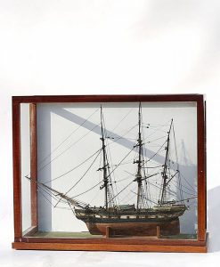 Circa 1820 Packet Ship - Sailor Made Cased Model