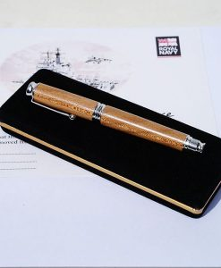 HMS Ark Royal Limited Edition Roller Ball Pen - Silver Finish
