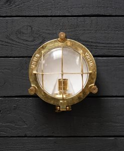 Original Large Brass Cargo Ships Turtle Light - Marked Wiska