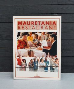 Original Cunard QE2 Large Advertising Placard - Mauretania Restaurant