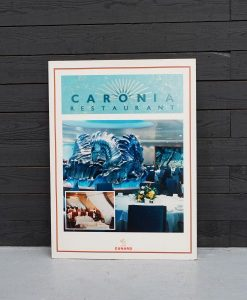 Original Cunard QE2 Large Advertising Placard - Caronia Restaurant