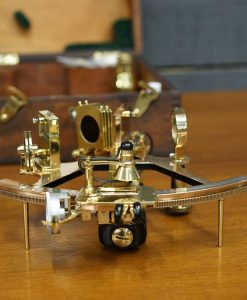 Royal Navy Silver Scale Sextant - Henry Hughes & Son Polished