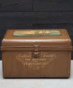 Hand Painted Traveller's Trunk Detailing The Anglesey