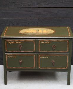 Hand Painted Two Drawer Chest - SS Triumph