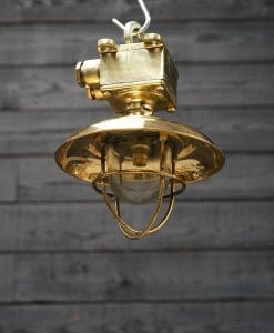 Reclaimed Ship's Brass Passageway Pendant - Small Shade