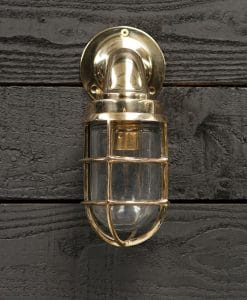 Brass Swan Neck 90 Degree Passage Wall Light – Large