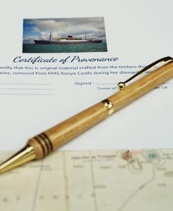RMS Kenya Castle Limited Edition Pen - Gold Finish