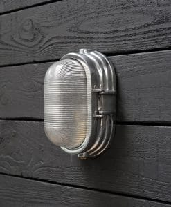 Aluminium Oval British Factory Wall Light