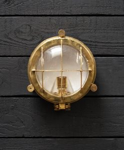 Original Large Brass Cargo Ships Turtle Light - Wiska